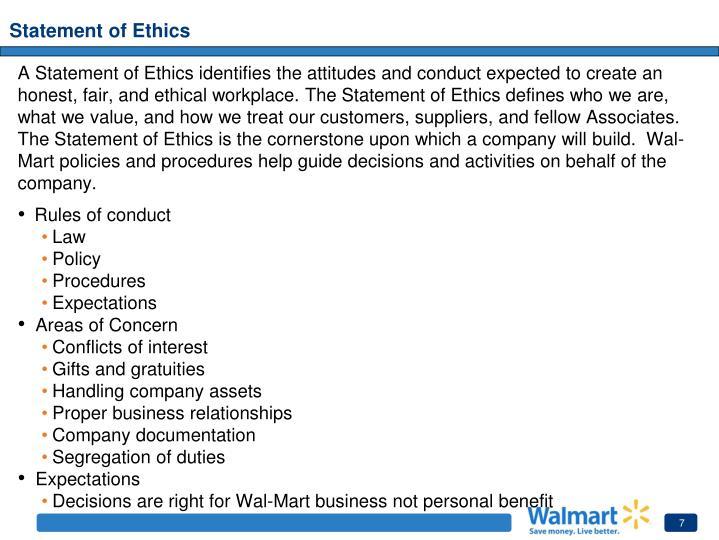 Statement of Ethics