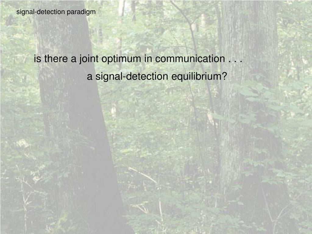 signal-detection paradigm