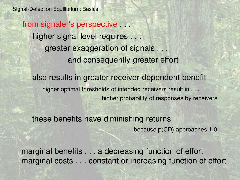 Signal-Detection Equilibrium: Basics