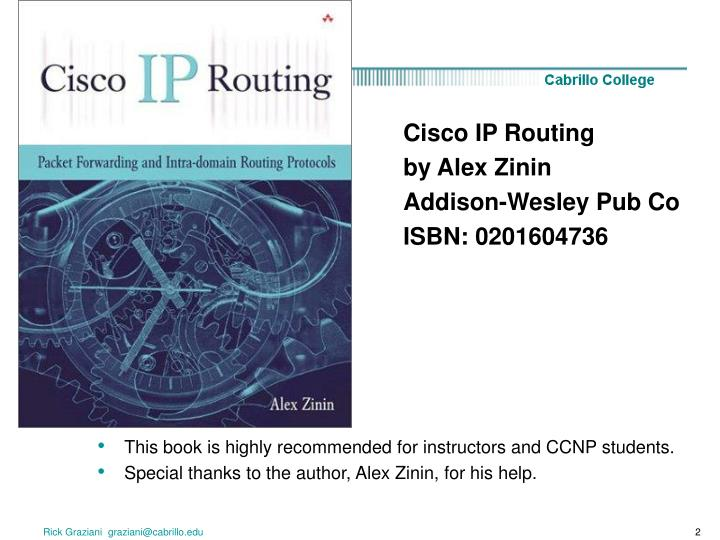 This book is highly recommended for instructors and CCNP students.