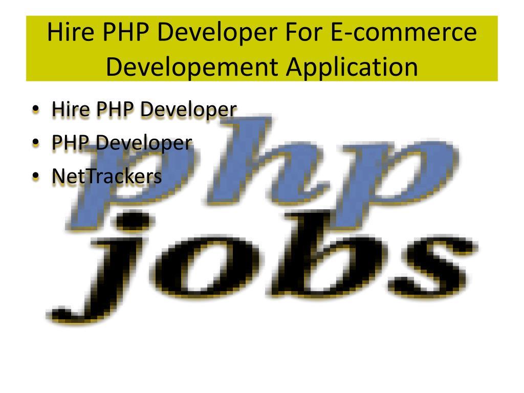 Hire PHP Developer For E-commerce
