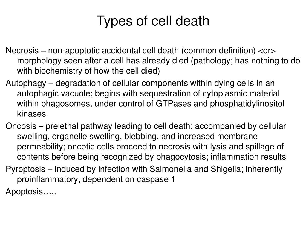 Types of cell death