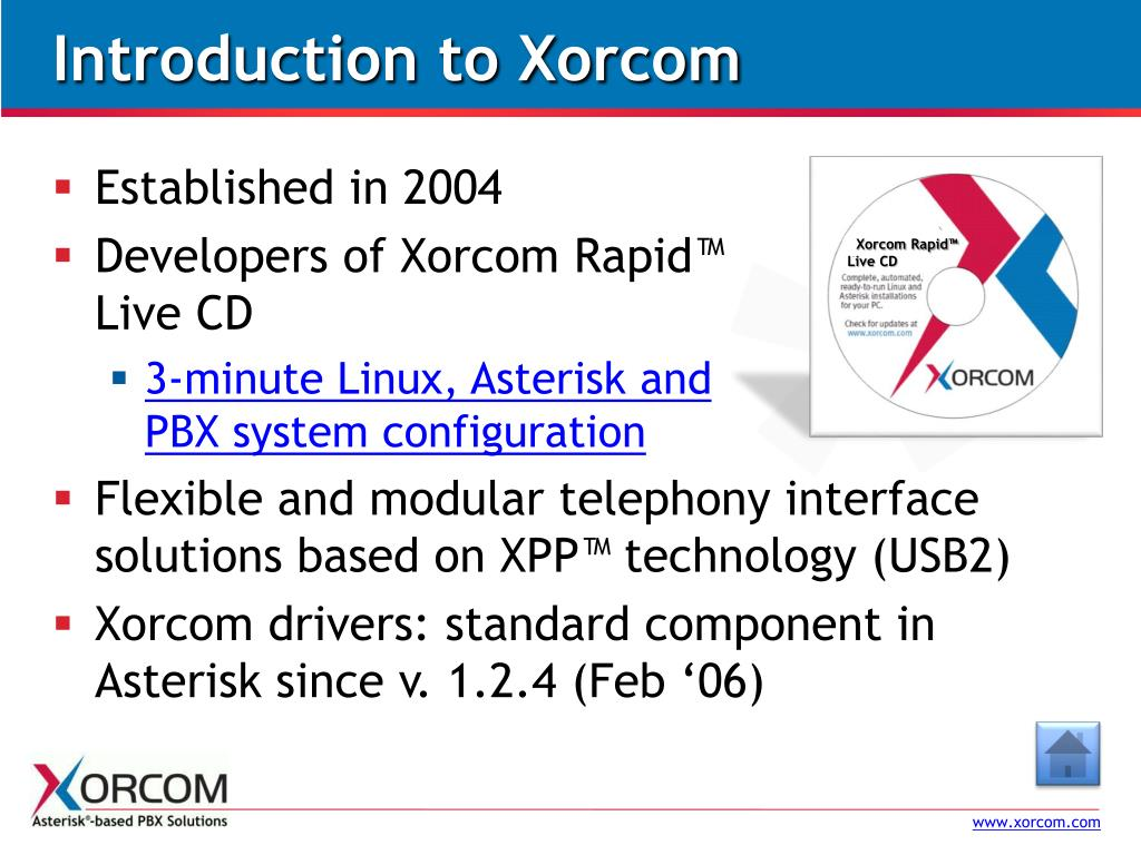 Introduction to Xorcom