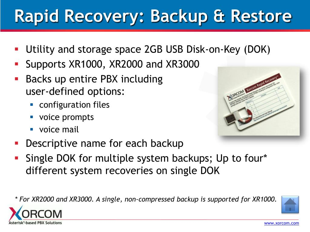 Rapid Recovery: Backup & Restore