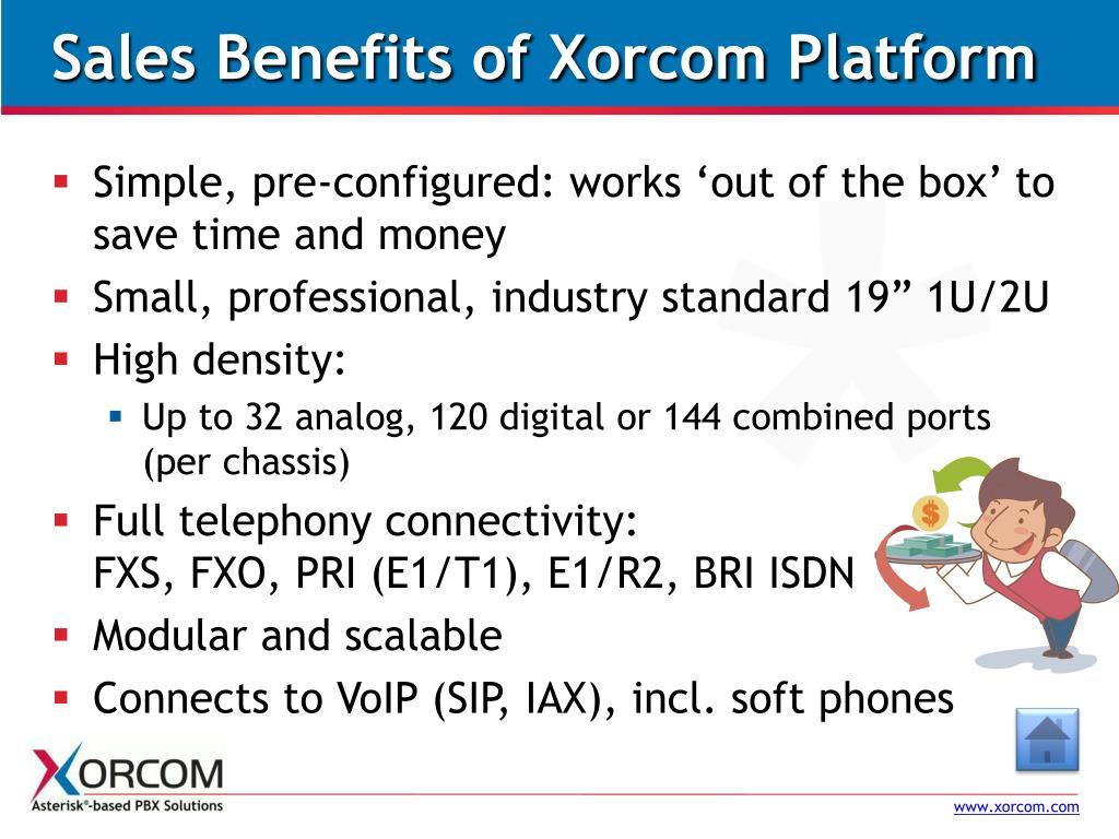 Sales Benefits of Xorcom Platform