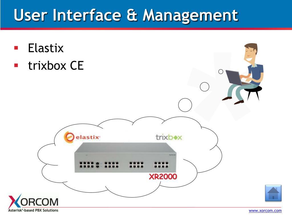 User Interface & Management