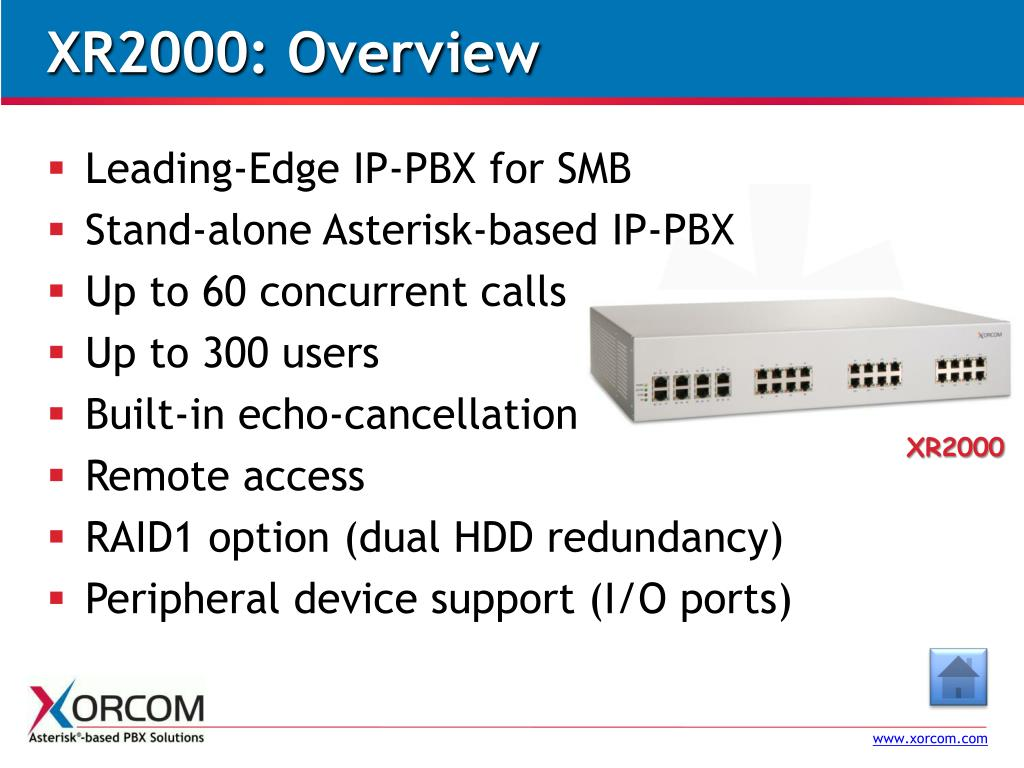 XR2000: Overview