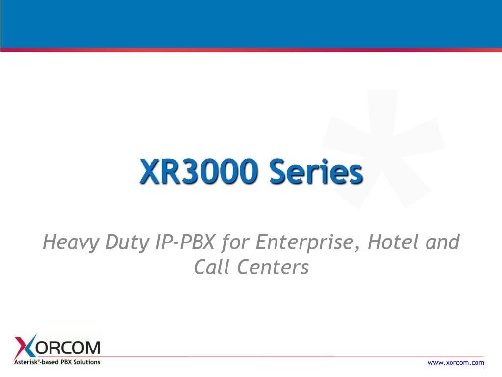XR3000 Series