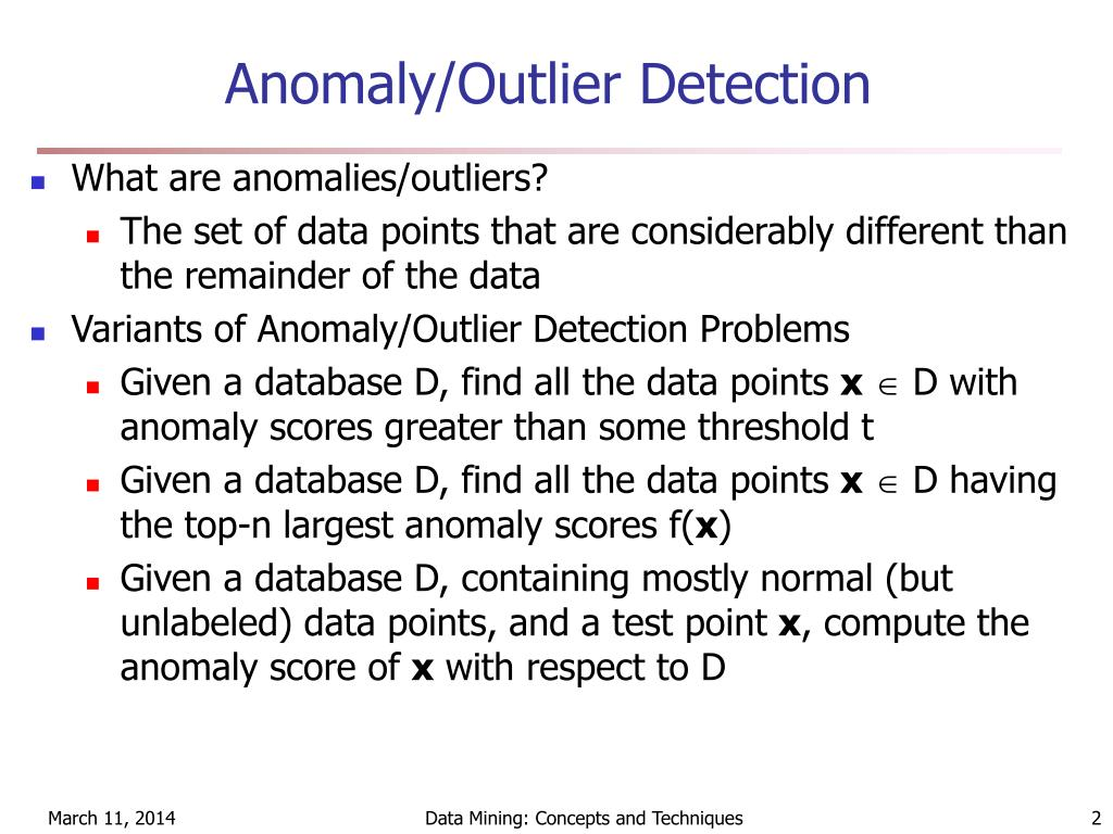 Anomaly/Outlier Detection