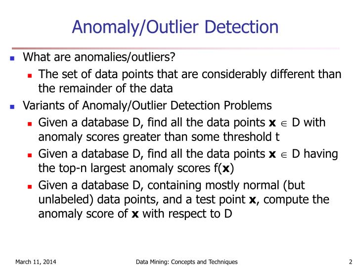 Anomaly outlier detection l.jpg