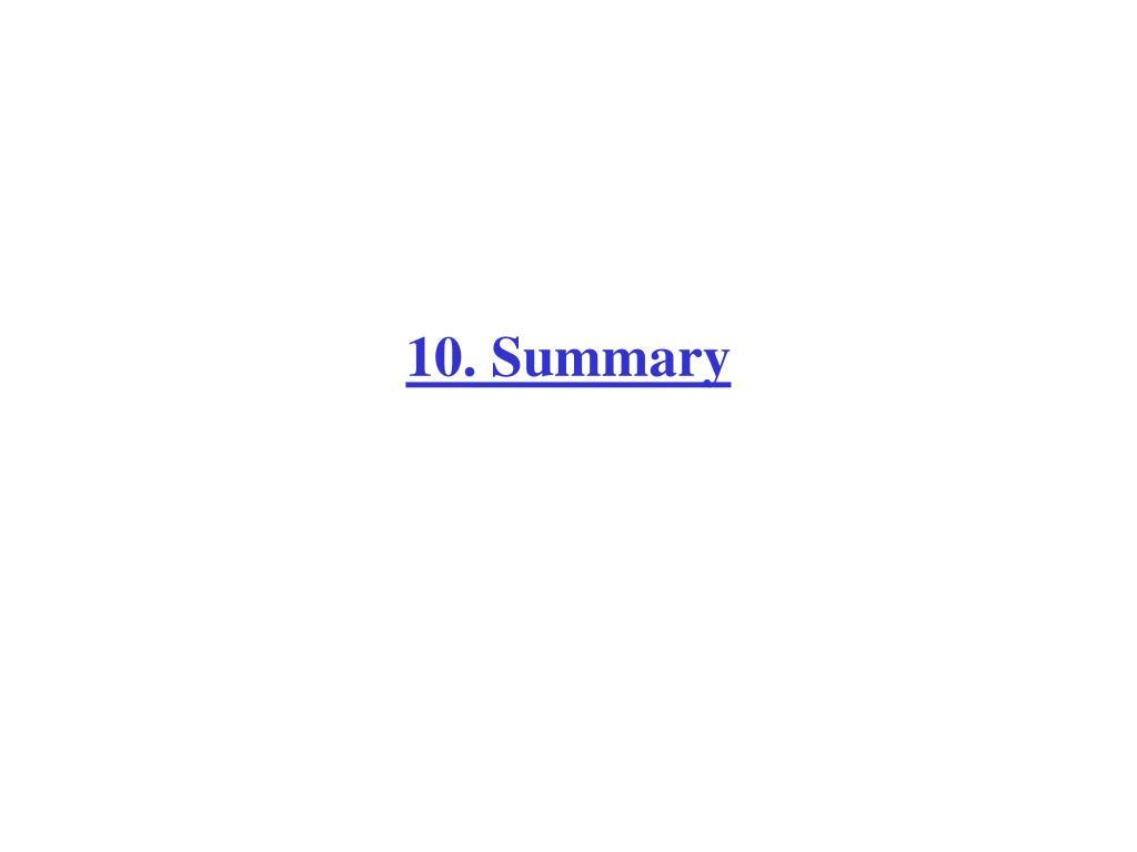 10. Summary