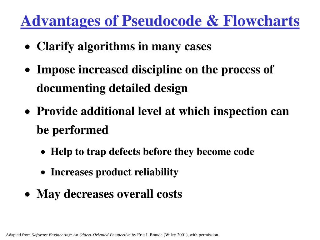 Advantages of Pseudocode & Flowcharts