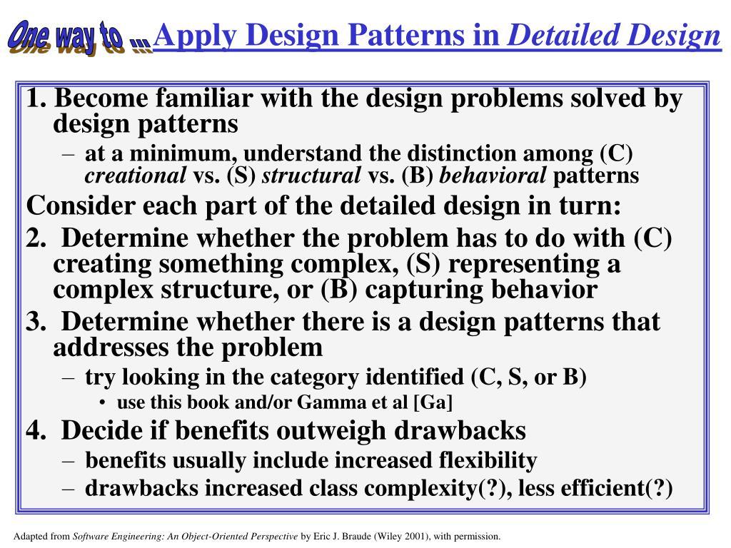 Apply Design Patterns in