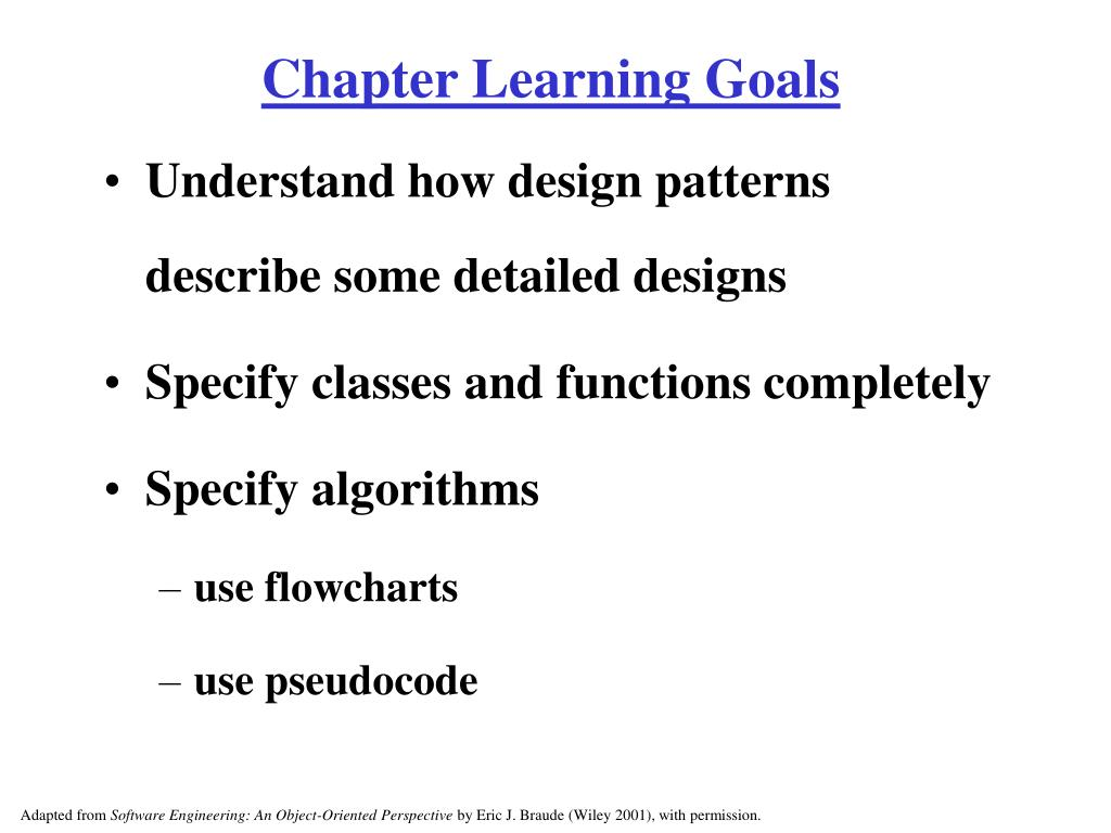 Chapter Learning Goals