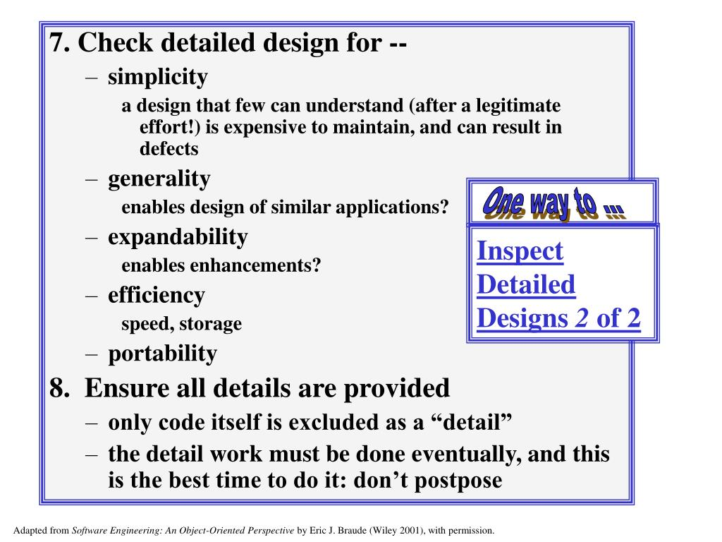 Inspect Detailed Designs