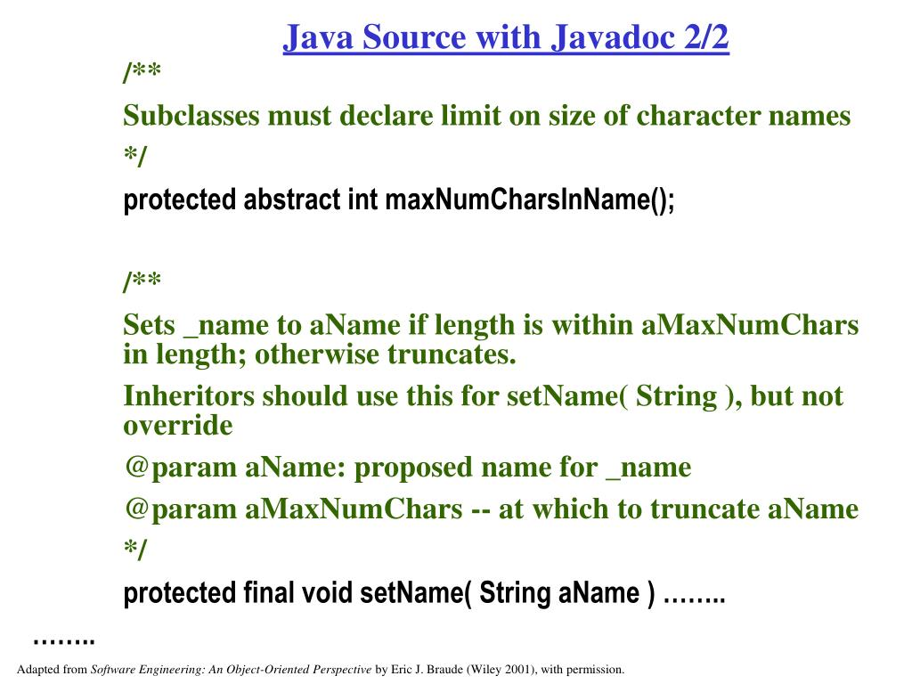 Java Source with Javadoc 2/2