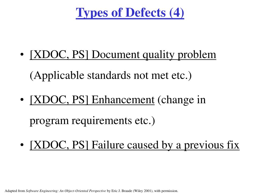 Types of Defects (4)