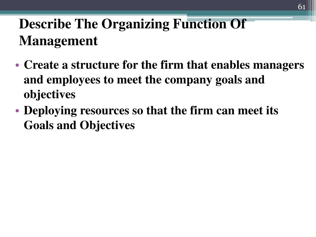 Describe The Organizing Function Of Management