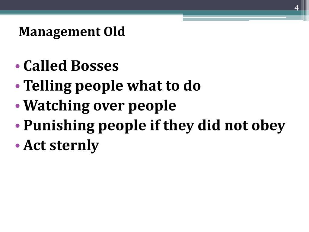 Management Old