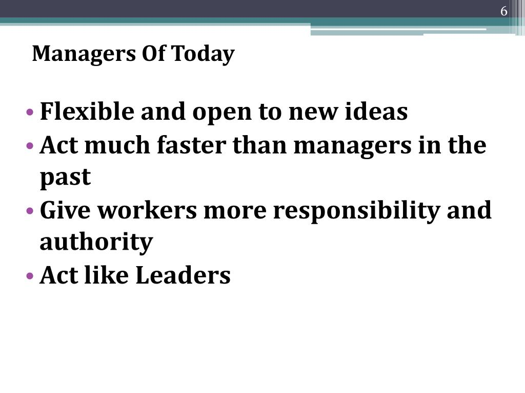 Managers Of Today