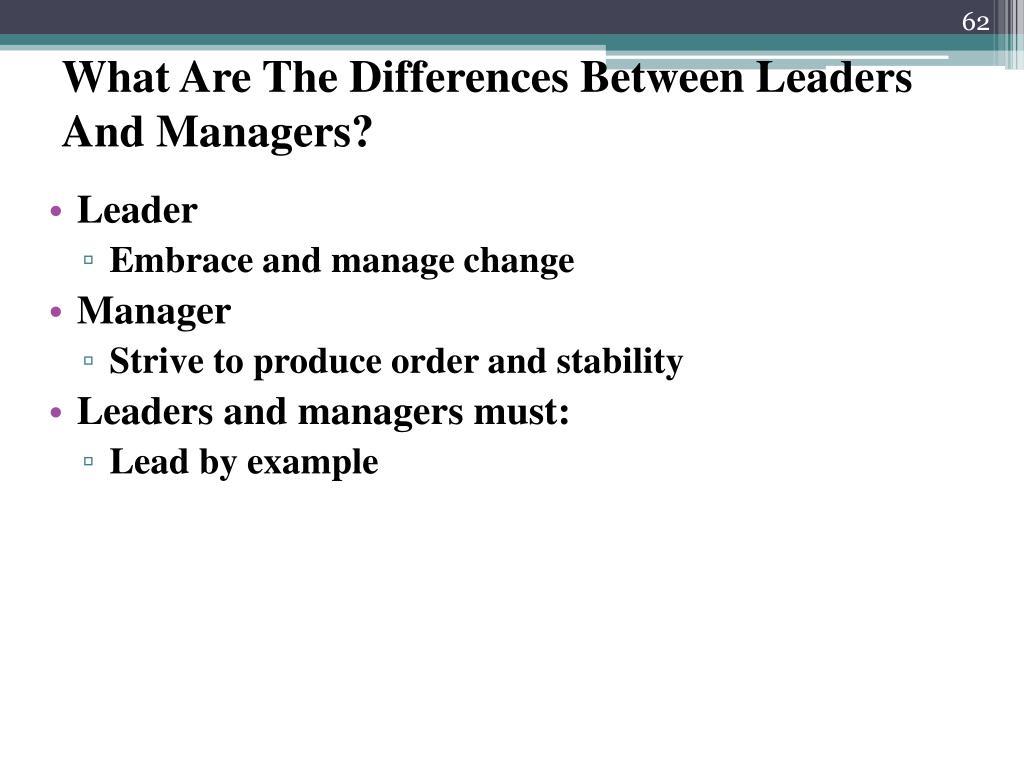 What Are The Differences Between Leaders And Managers?