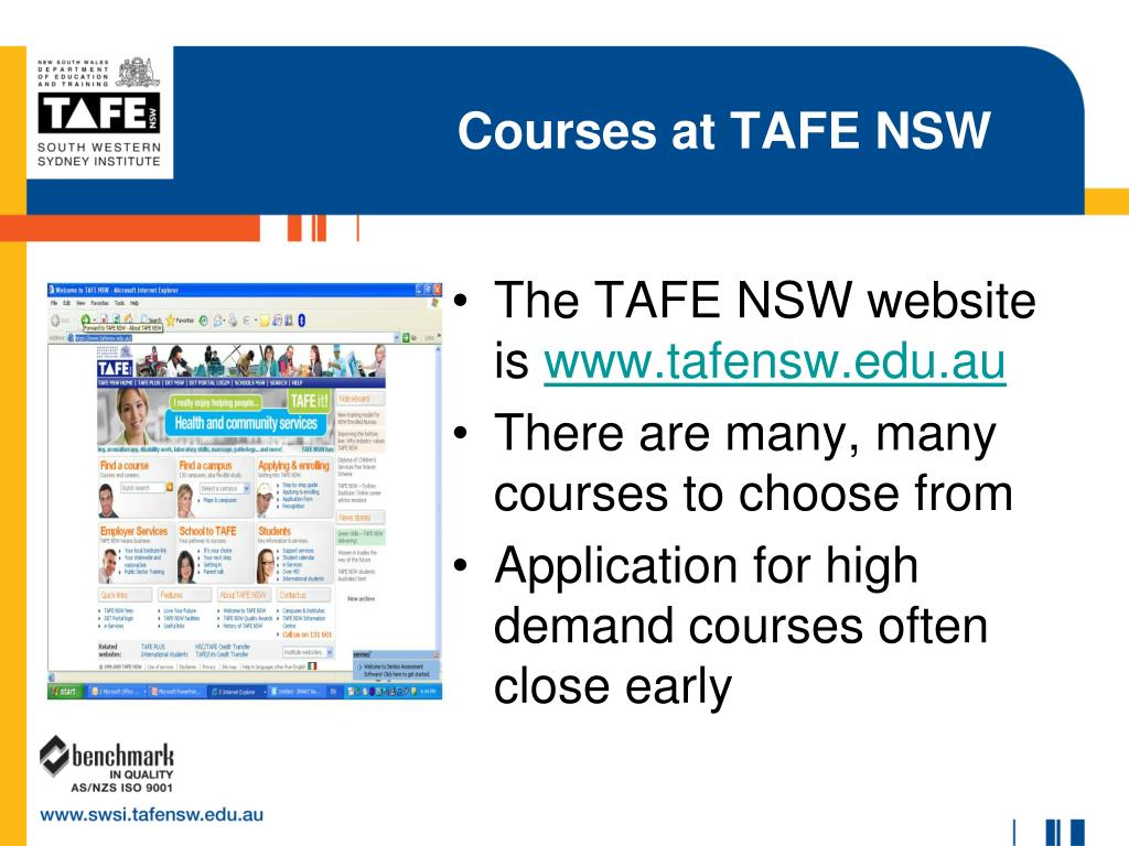 Courses at TAFE NSW