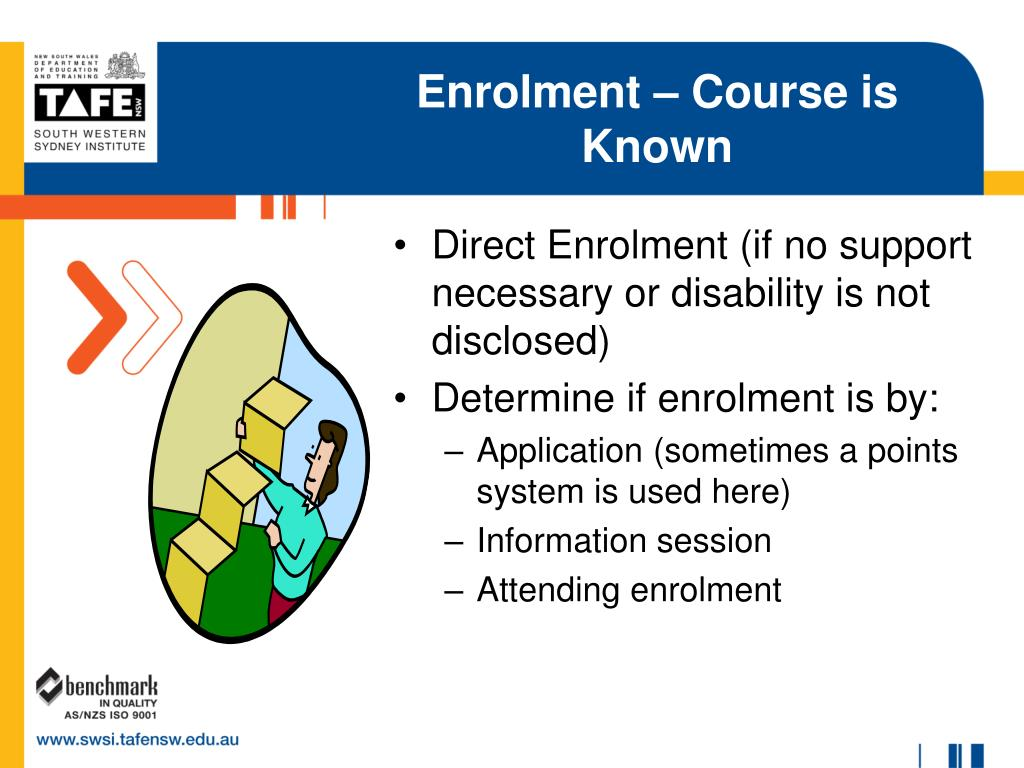 Enrolment – Course is Known