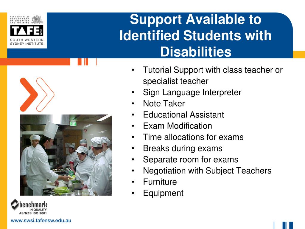 Support Available to Identified Students with Disabilities