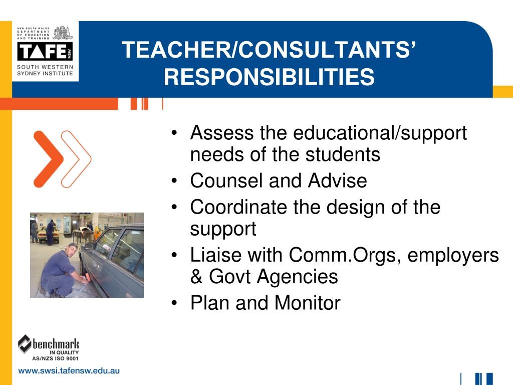 Assess the educational/support needs of the students