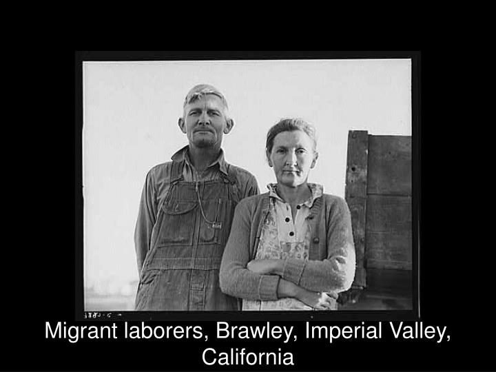Migrant laborers, Brawley, Imperial Valley, California