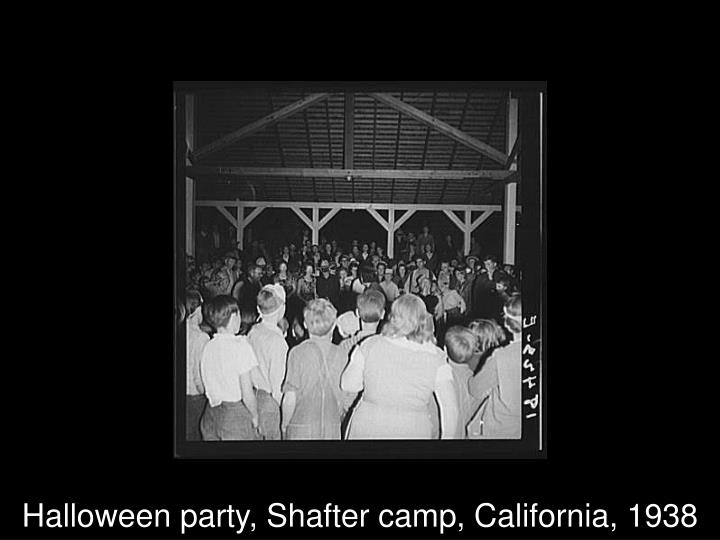 Halloween party, Shafter camp, California, 1938