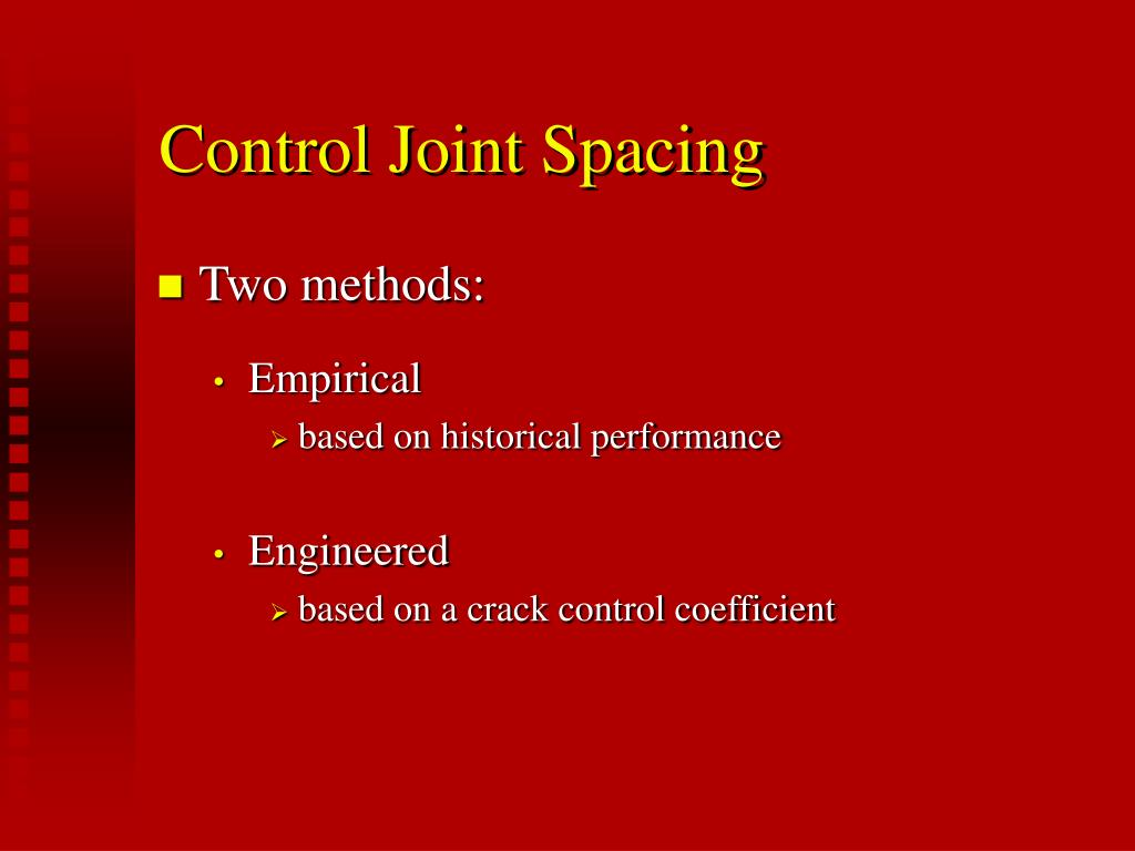 Control Joint Spacing