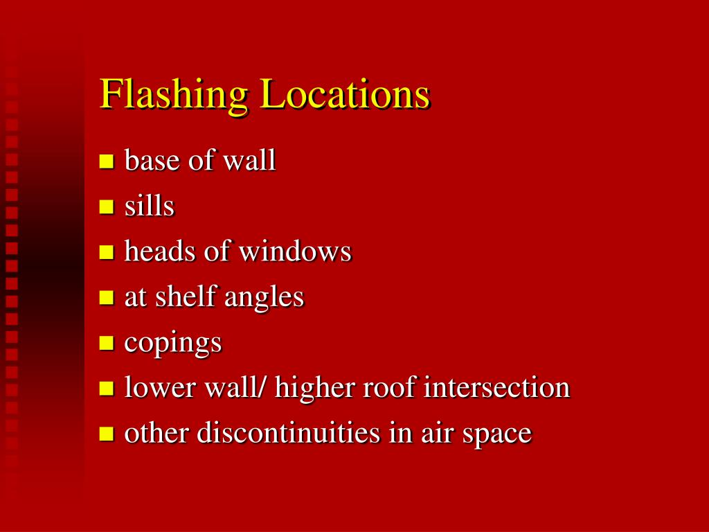Flashing Locations