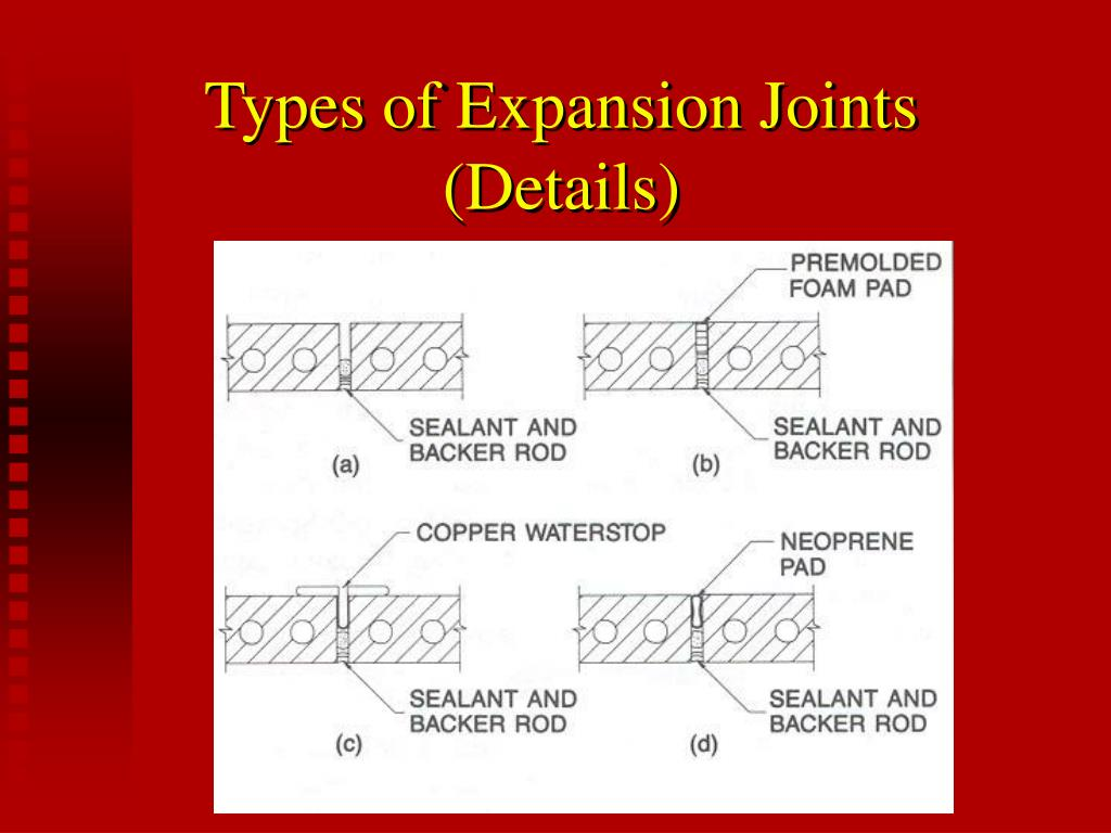 Types of Expansion Joints