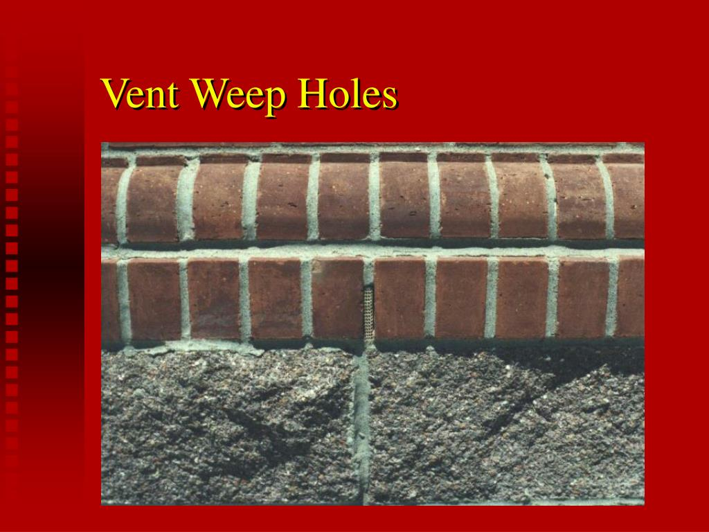 Vent Weep Holes
