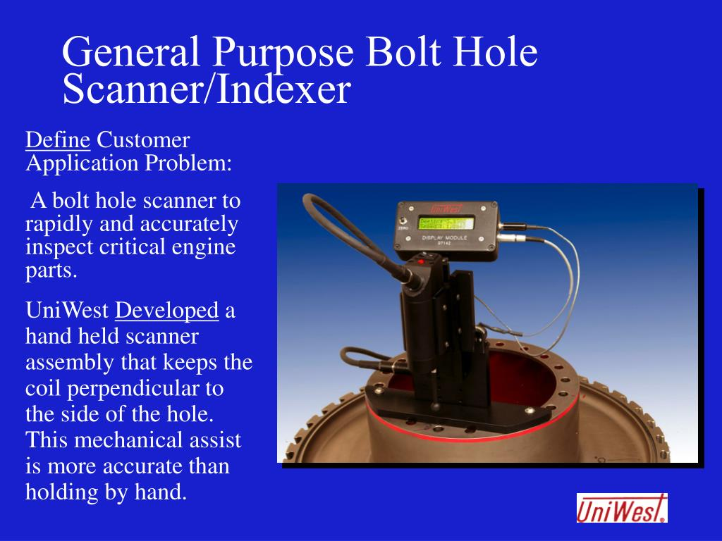 General Purpose Bolt Hole Scanner/Indexer