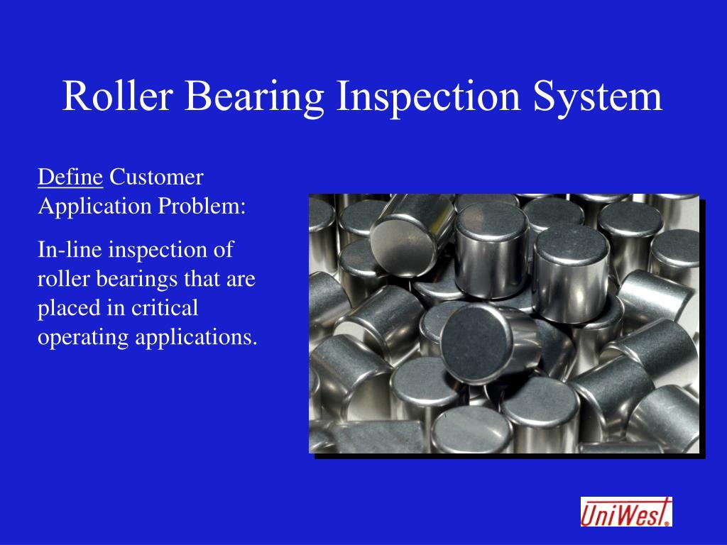 Roller Bearing Inspection System