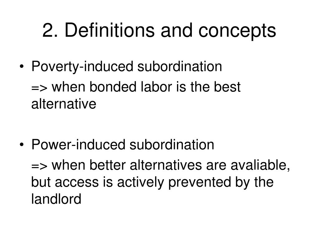 2. Definitions and concepts