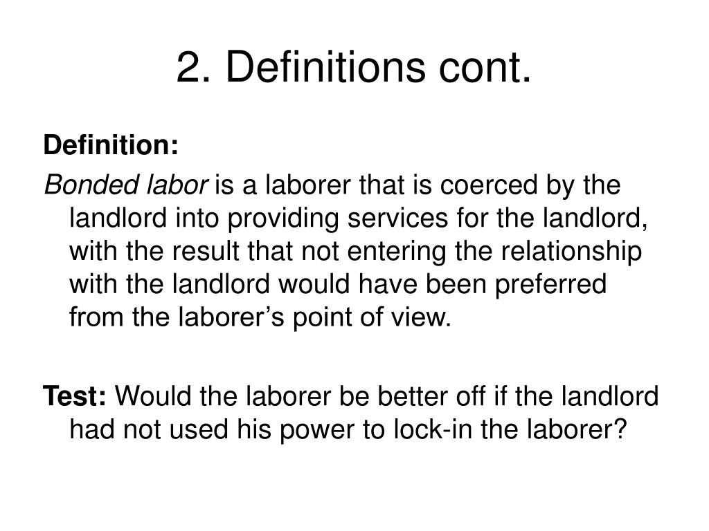 2. Definitions cont.