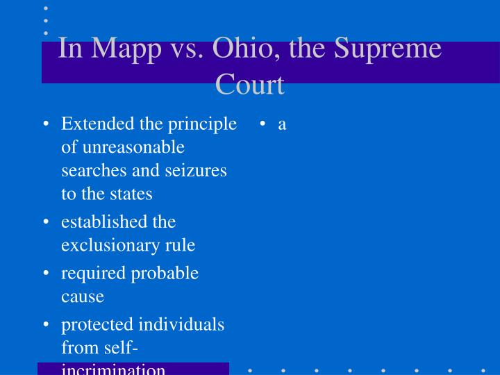 Extended the principle of unreasonable searches and seizures to the states