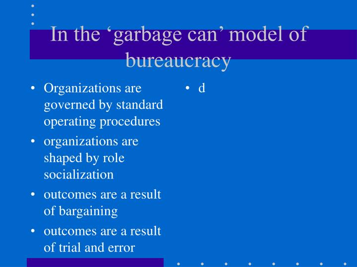 Organizations are governed by standard operating procedures