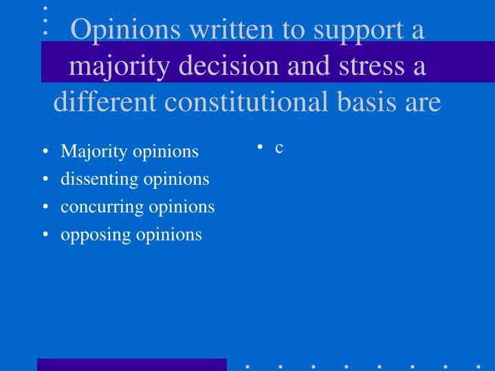 Majority opinions