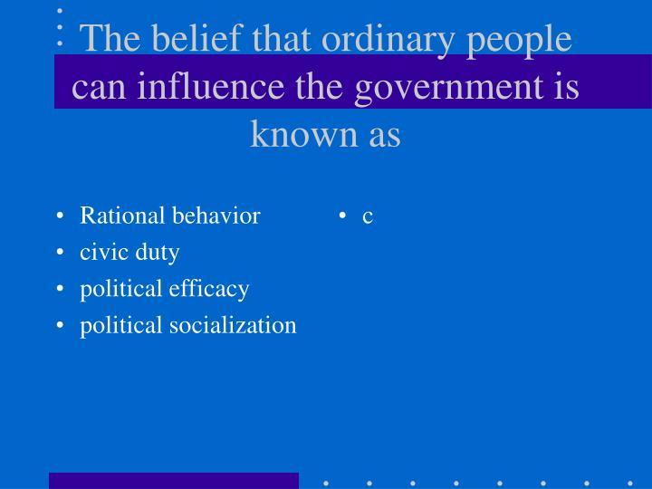 Rational behavior