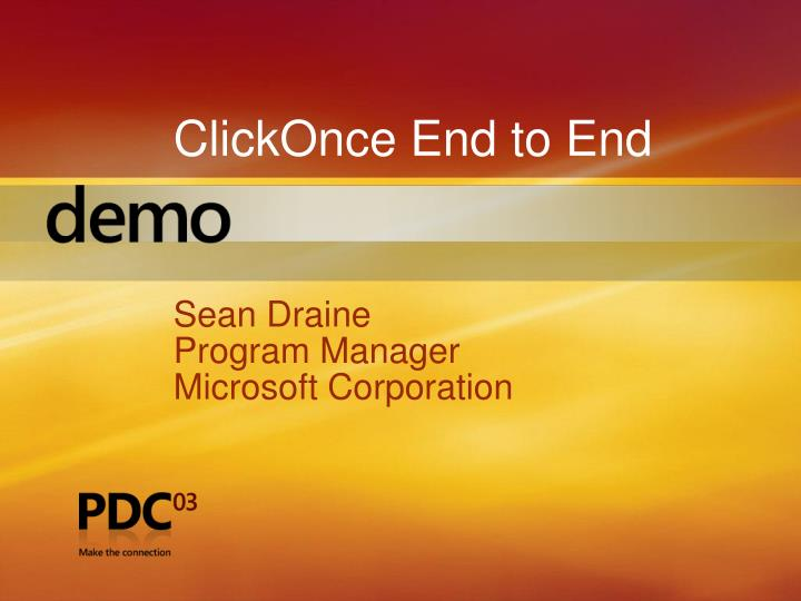 ClickOnce End to End