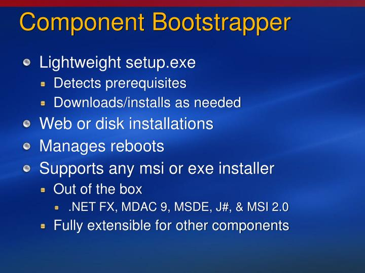Component Bootstrapper