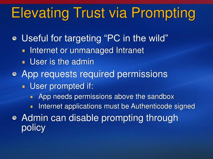 Elevating Trust via Prompting