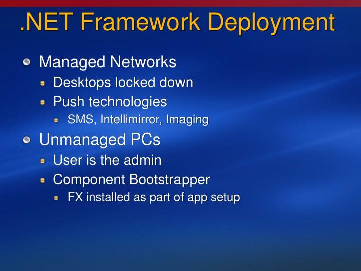 .NET Framework Deployment