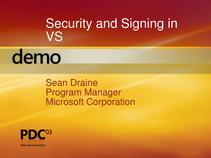 Security and Signing in VS