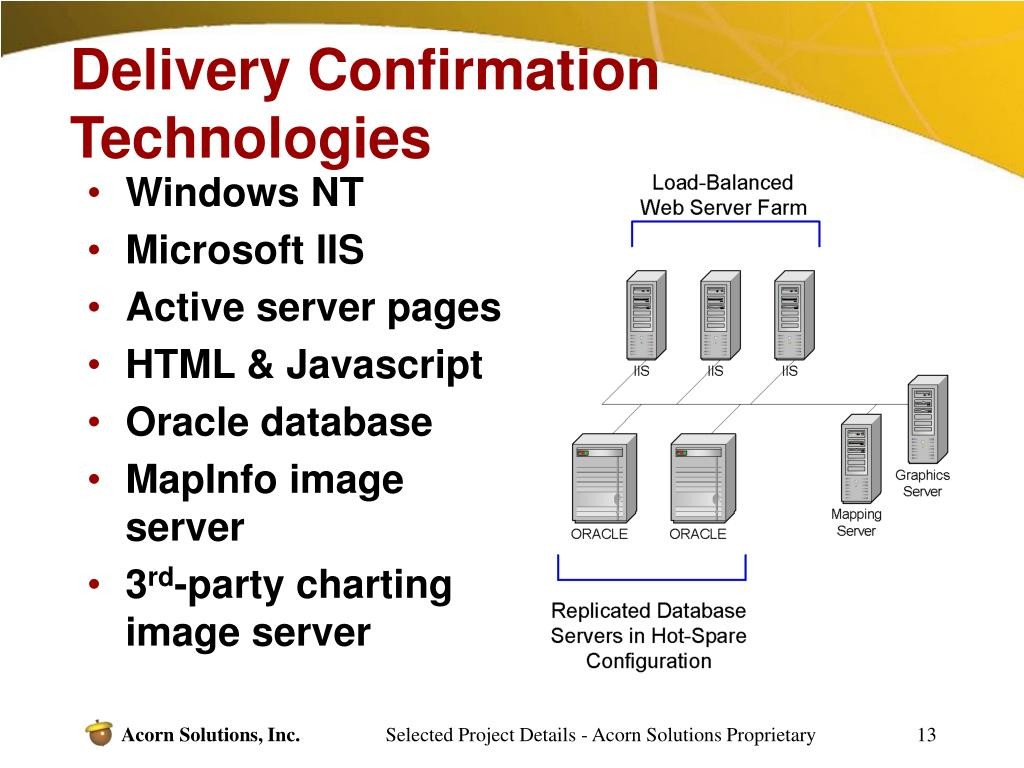 Delivery Confirmation Technologies