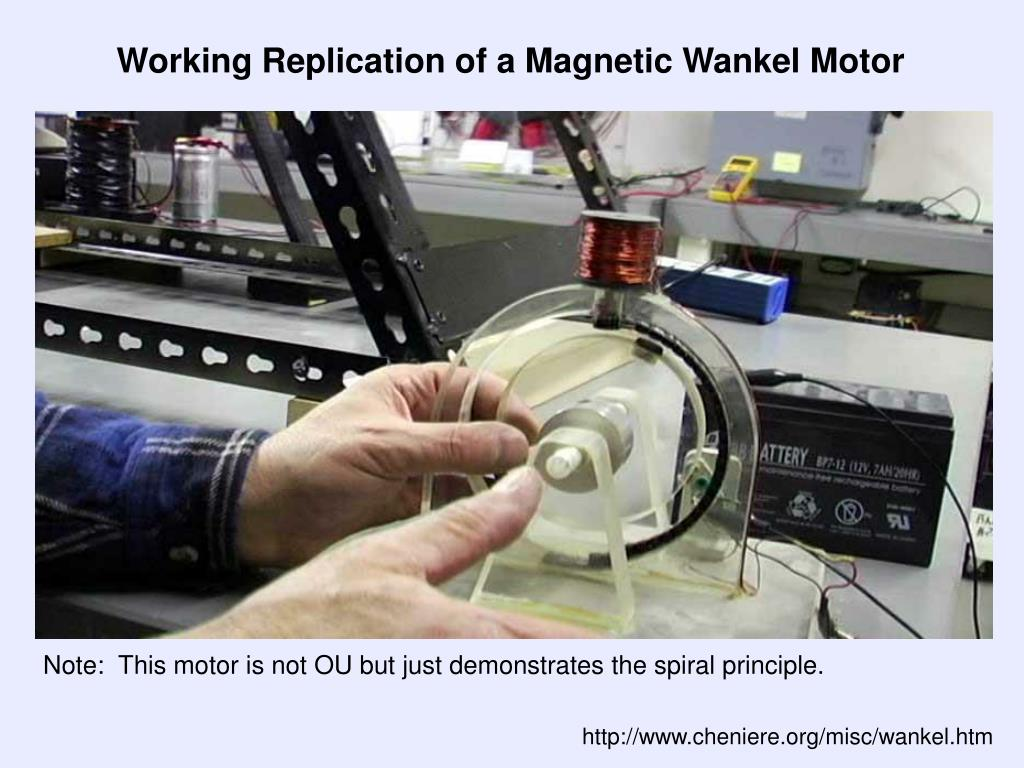 Working Replication of a Magnetic Wankel Motor